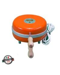 Gofrera eléctrica circular plancha fina 220 volt 600w colorada