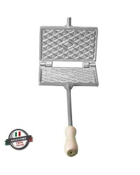 Moldes para ferratelle (barquillos u obleas) e gofres manuales fina rectangular 1 pz