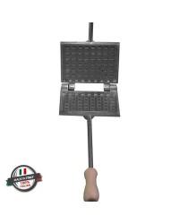 Moldes para ferratelle (barquillos u obleas) e gofres manuales gruesa rectangular gofres