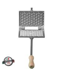 Moldes para ferratelle (barquillos u obleas) e gofres manuales Profondo rectangular 2 pz