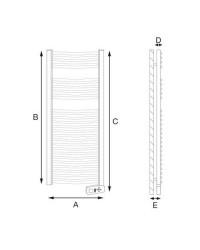 Lámpara aplique de pared exterior - Faro diseño Dorval-1 72260 Níquel mate